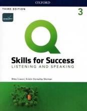 کتاب زبان کیو اسکیلز فور ساکسس Q Skills for Success 3 Listening & Speaking (3rd)+DVD