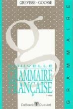 کتاب  Nouvelle grammaire française - Grevisse