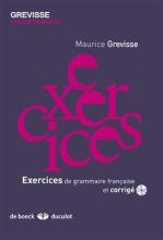 کتاب Exercices de grammaire francaise et corrigé - grevisse