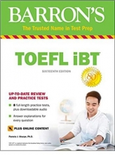 كتاب toefl ibt barrons 16th+DVD