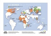 پوستر نقشه کشورهای فرانسوی زبان
